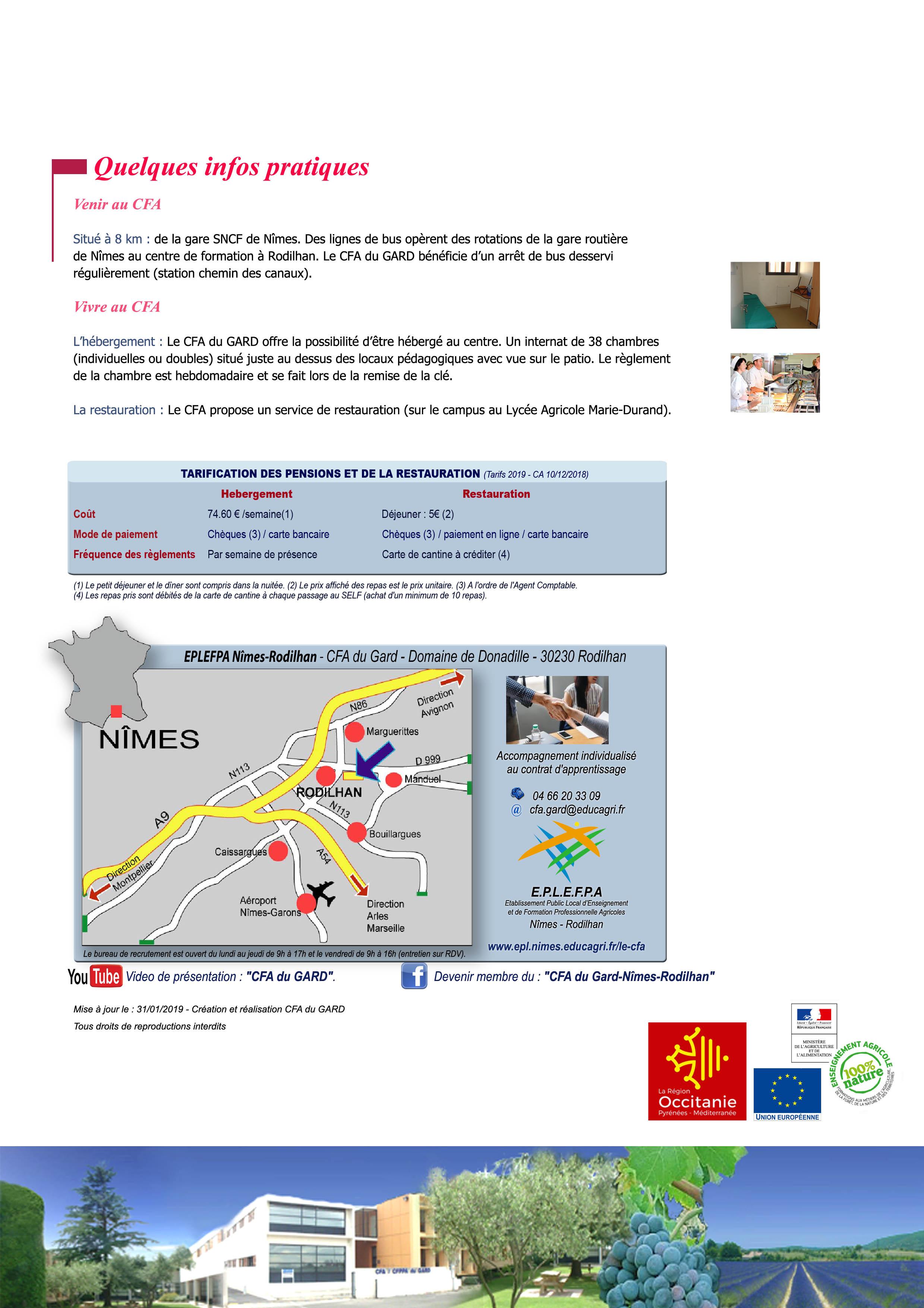 Chemin Des Canaux 30230 Bouillargues modalités de l'apprentissage